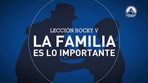 paramount matador rocky v la familia es lo importante leccionesrocky paramount