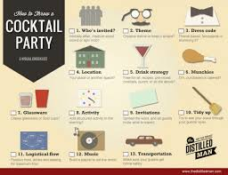 how to plan the perfect cocktail party a visual guide visual ly