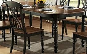 Amazoncom Weston Home Ohana Dining Table With Leaf Tables - Ohana white round dining room set