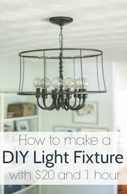 Diy Light Fixtures Diy Industrial Light An Upcycled Lighting Project Lovely Etc