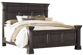 standard furniture garrison king panel bed with smooth grey finish