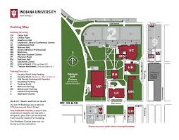Indiana State University Campus Map by Indiana University Parking Map Indiana Map