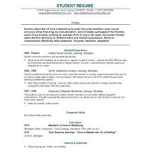 College Resumes Template College Student Resume Template Resume College Application