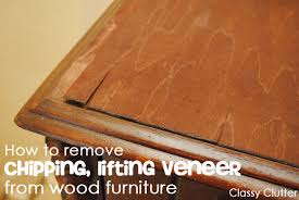 how to refinish veneer table how to remove veneer from wood furniture the easy way classy