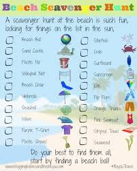 travel printable for scavenger hunt for your next