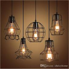Hanging Light Bulb Pendant New Arrivals Retro Iron Pendant Light Loft Ls E27 Birdcage Led