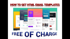 design html email signature dreamweaver how to get responsive html email templates for free youtube