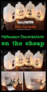 easy halloween craft ideas milk jug ghosts isavea2z com