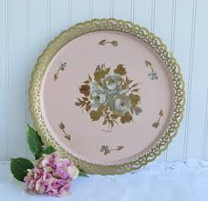 nashco new york pink tray shabby chic french country tray