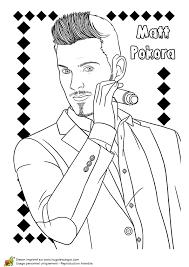 Coloriage Chanteur À La Mode Matt Pokora