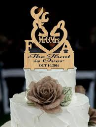 country cake topper deer wedding cake topper country cake topper the hunt is