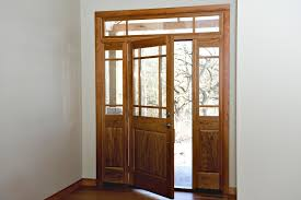 Clear Glass Entry Doors by Cherry Wood Entry Door Heritage Millwork Inc Ramsey M