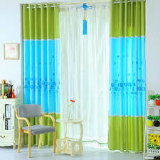 Green Kids Curtains Green And Blue Curtains