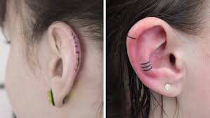 ear earing the helix tattoo trend is all instagram