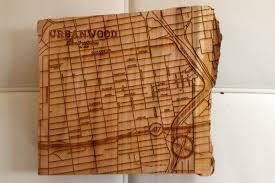 custom urbanwood laser wood maps n product