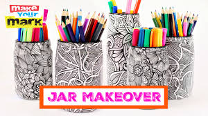 make coloring book how to coloring book jar makeover youtube