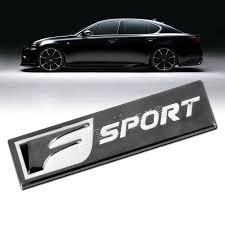 lexus f sport badge rectangle metal f sport emblem badge sticker decal for toyota