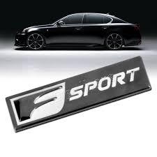 lexus emblem rectangle metal f sport emblem badge sticker decal for toyota