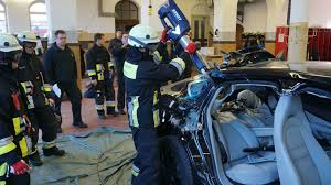 porsche technician firefighters cut apart a brand new porsche panamera