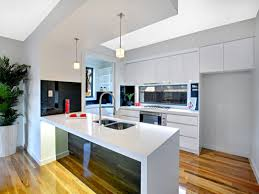 galley kitchen with island bench modern galley kitchen design