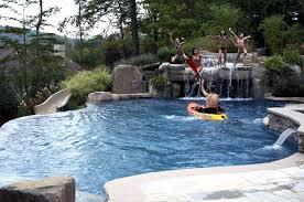 Waterfall For Backyard by Swimming Pool Waterfall Design U2013 Bullyfreeworld Com