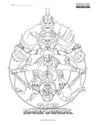 Thor Ragnarok Coloring Page Super Fun Coloring Thor Coloring Page