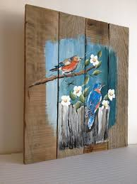 Rustic Wall Decor Pallet Painting Distressed Wood Art Pallet Art By Palletpalz
