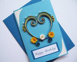 husband birthday card valentine u0027s day card quilling