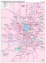 Map Of India Cities Hyderabad U0026 Secunderabad City Map City Map Of Hyderabad