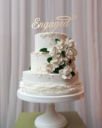 a and we re cake topper engaged or we re engaged cake topper made of wood not paper