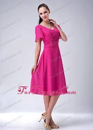 pink dress for wedding pink princess v neck tea length wedding guest