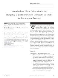 new graduate nurse orientation in the emergency department use of