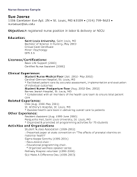 Resume Sample Objectives For Nurses by Ccu Nurse Resume Resume For Your Job Application