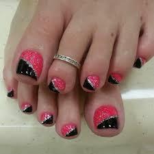 manicure pink silver black google search fingernails