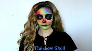 Skeleton Face Halloween Makeup by Uv Neon Rainbow Skeleton Halloween Makeup Tutorial Youtube