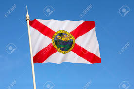 Blue And White Flag Cross Flag Of Florida United States Of America The Flag Has A Red