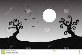 black and white halloween background silhouette bat and full moon halloween silhouette stock vector image 73198347