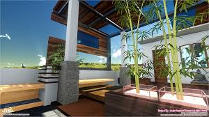 contemporary style home landscape design in 800 sq feet house