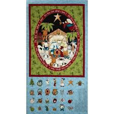 do you see what i see advent calendar panel 24 in blue discount do you see what i see advent calendar panel 24 in blue discount designer fabric fabric com