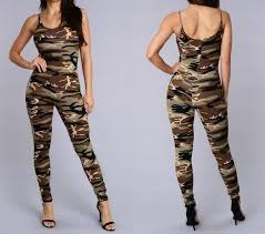 camouflage jumpsuit womens 2016 wholesale fashion summer camouflage jumpsuit