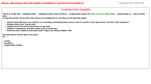 Sample Resume For Air Conditioning Technician by Experience Certificate Format For Air Conditioner Technician Air