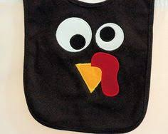 thanksgiving turkey baby bib applique turkey by brennysbibbies