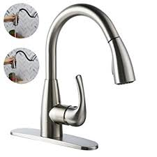 Kitchen Faucet With Built In Sprayer Boharers Kitchen Faucet With Sprayer Spray Stream Brushed Nickel