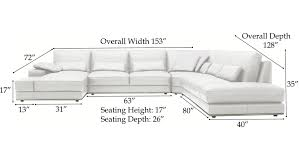 how to measure sectional sofa dimensions codeminimalist small