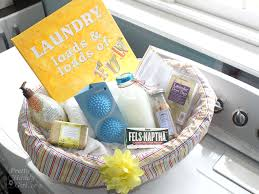 themed gift basket ideas laundry gift basket how to sew a basket liner pretty handy