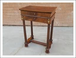 scrivania stile impero tavolino da lavoro con scrittoio in mogano epoca primi 800