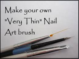 diy thin nail art brush youtube