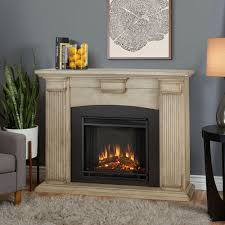 real flame adelaide 51 in electric fireplace in dry brush white