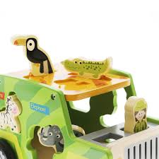 safari jeep cartoon safari truck toy for boys u0026 girls wooden shape sorter usa toyz