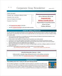 sample corporate newsletter template 7 free documents download